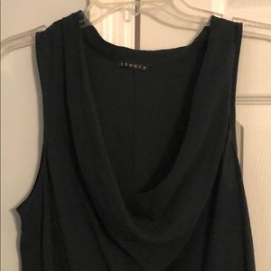 Gorgeous dark green sleeveless blouse